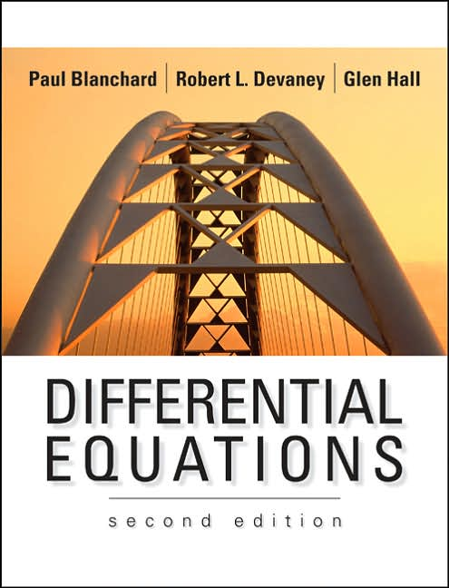 P. Blanchard, R. L. Devaney, and G. Hall: Ordinary Differential Equations,